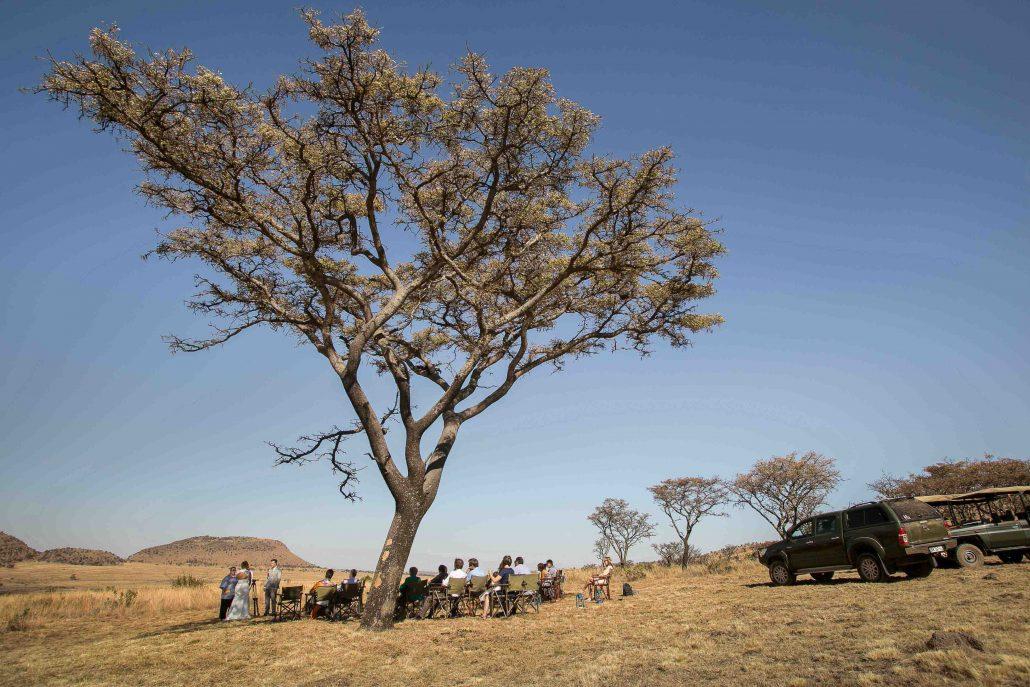 Safari bruiloft fotogalerij, één droombruiloft bijzondere reis
